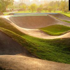 Асфальтовый памп трек в Марьино, в парке 850-летия Москвы - FK-ramps