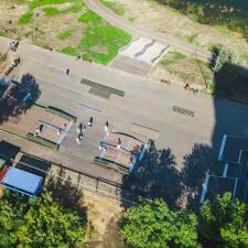 Деревянный скейт парк в Новокуйбышевске в парке Победы - FK-ramps