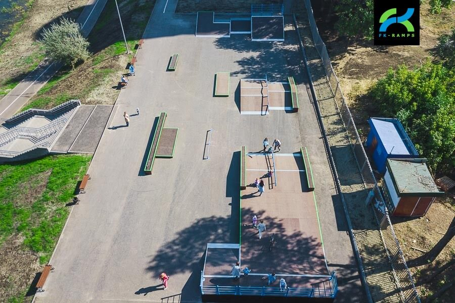 Деревянный скейт парк в Новокуйбышевске