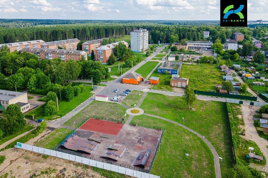 Деревянный скейт парк в Глебовском