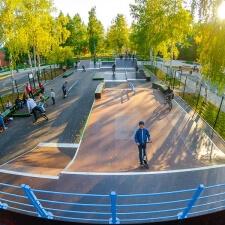 Деревянный скейт парк в Стрежевом, Томская область - FK-ramps