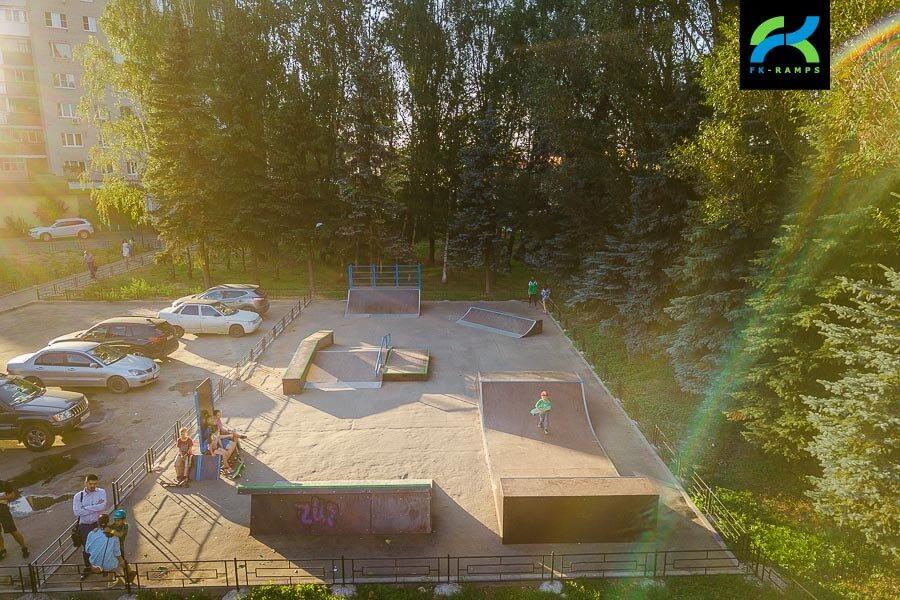 Деревянный скейт парк в Дедовске