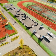 Каркасный скейт парк и памп трек в Лабытнангах - FK-ramps
