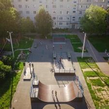 Деревянный скейт парк в Скоропусковском, Московская область - FK-ramps