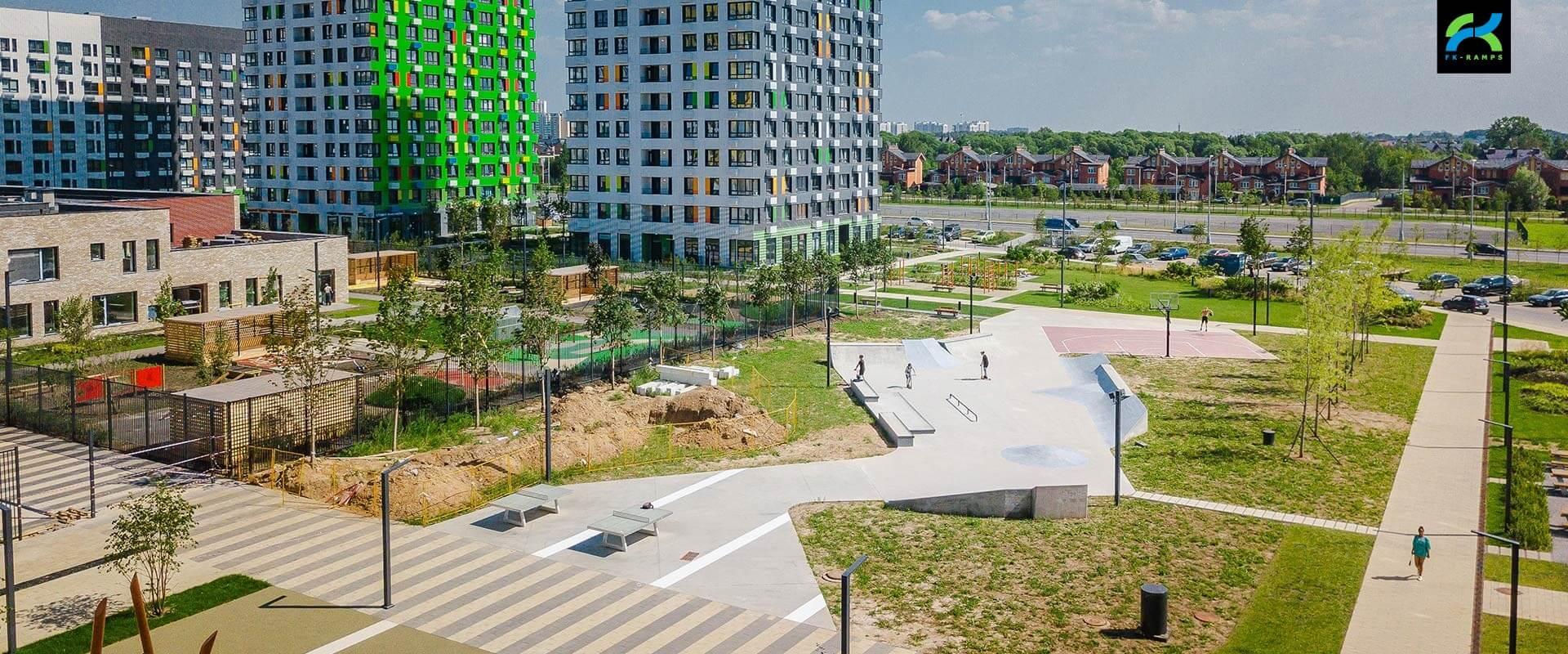 Проекты скейт парков для застройщиков - FK-ramps