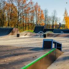 Деревянный скейтпарк в Ленинградской области