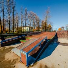 Стрит-секции в скейт парке в Дубровке