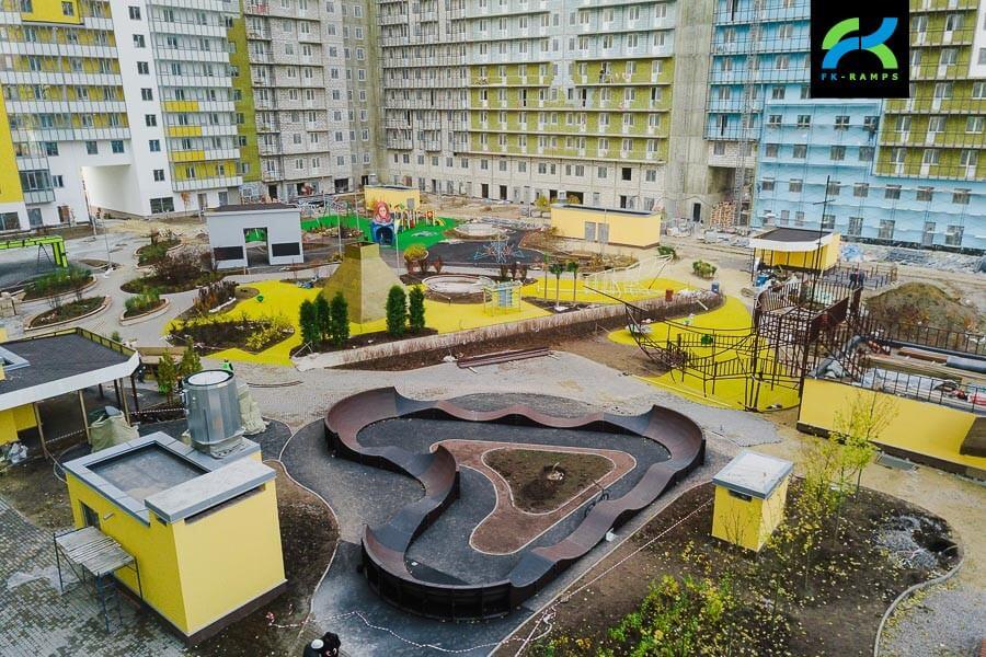 Памп трек в ЖК Граффити, СПб