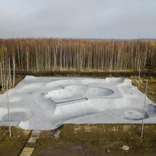 Торкретирование радиусных поверхностей скейт парка