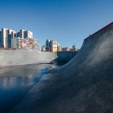 Бетонный скейт парк с боулом в СПб