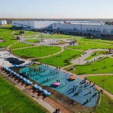 Бетонный скейт парк МЕГА Дыбенко: вид сверху
