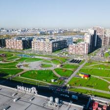 Бетонный скейт парк МЕГА Дыбенко: общий план