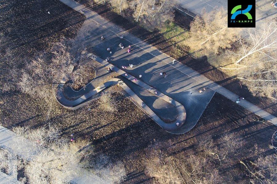 Каркасный скейт парк и памп трек в Кемерово