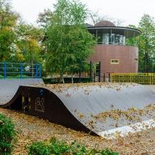 Деревянный скейт парк в Лабинске