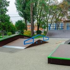 Фото: деревянный скейт парк в Лабинске