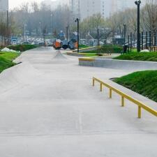 Линейный скейтпарк из бетона в Москве