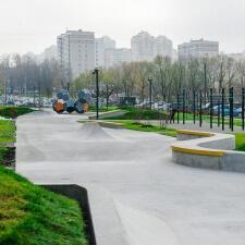 Бетонный скейт парк ЖК Мещерский Лес: готовый проект