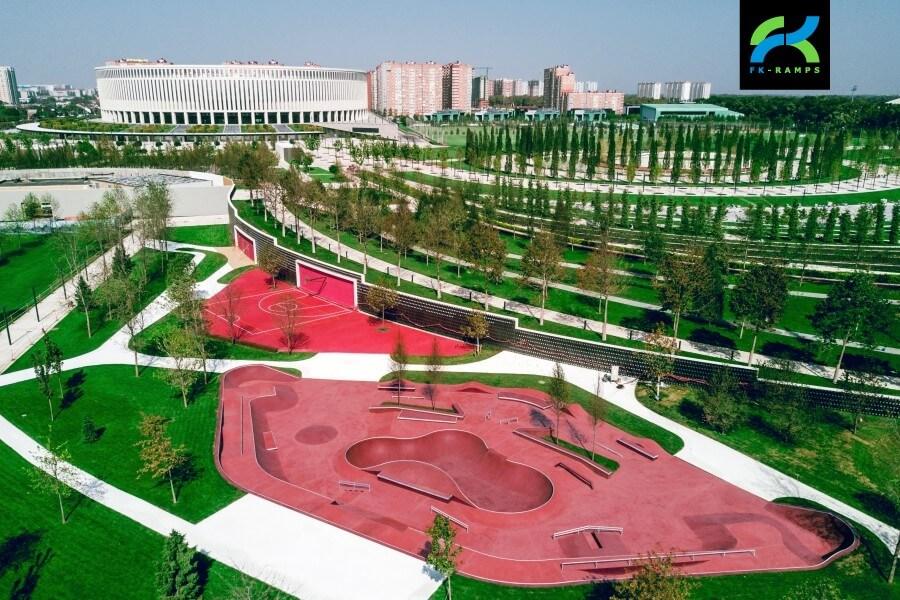 скейтпарк в парке Галицкого Краснодар