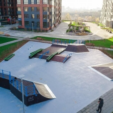 Новый скейт парк ЖК Сердце Столицы в Москве