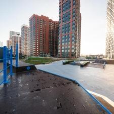 Скейт парк на станции метро Шелепиха