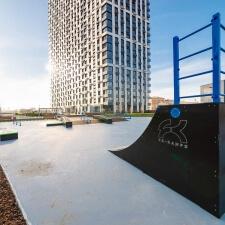 Скейт парк у станции метро Шелепиха от компании FK-ramps