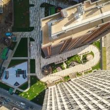 Скейт парк ЖК Сердце Столицы в Москве: вид сверху