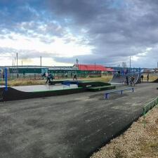 Деревянный скейт парк в Алдане