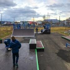 Деревянный скейт парк в Якутии
