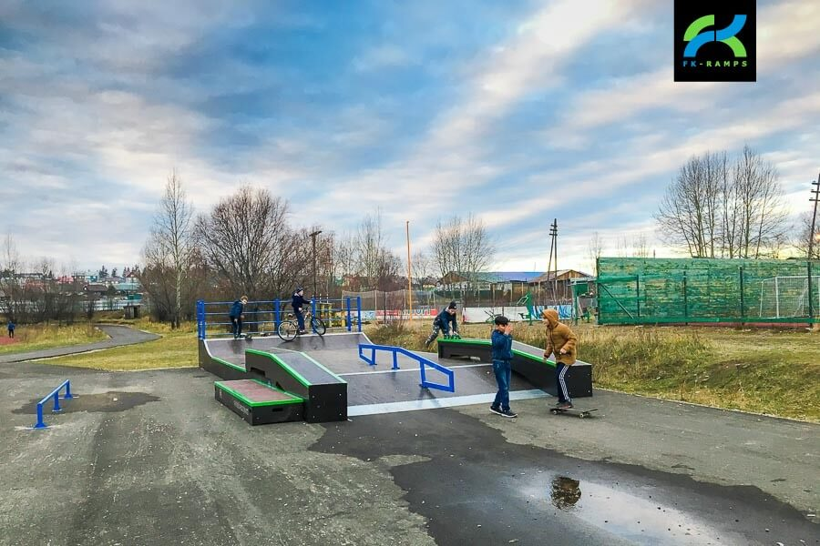 Скейт парк в Алдане