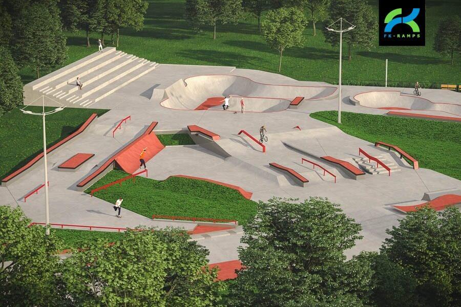 план скейтпарка