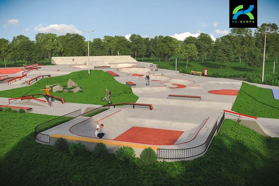 план скейт парка