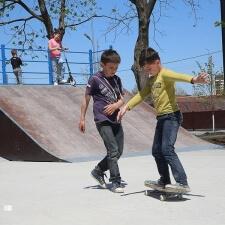 Деревянный скейт парк в Грозном