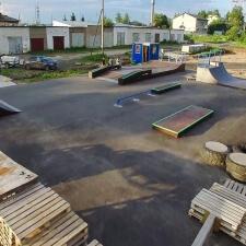 Деревянный скейт парк в Вологодской области
