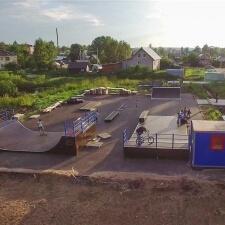 Деревянный скейт парк в Грязовце
