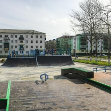 Деревянный скейт парк в Сахалинской области