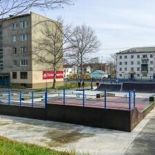 Деревянный скейт парк в Макарове