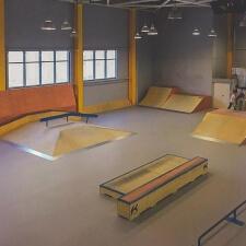 Деревянный скейт парк в Норильске