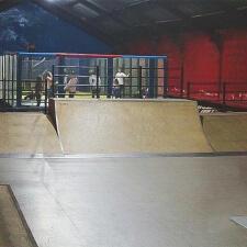 Крытый деревянный скейт парк в Норильске