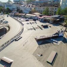 Деревянный скейтпарк в Артбухте Севастополя