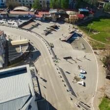 Скейт парк в Артбухте Севастополя: вид сверху