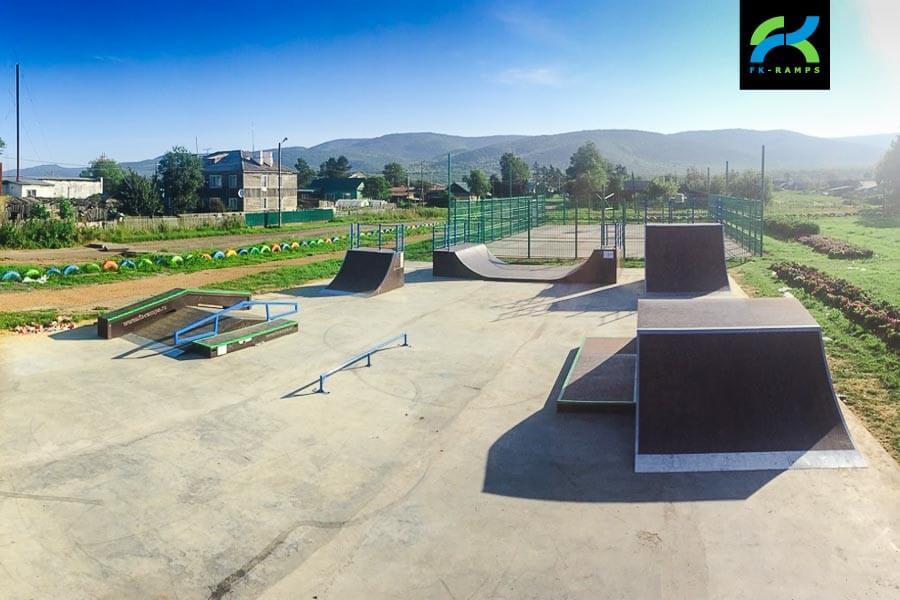 Скейт парк в Кировском, Сахалинская область