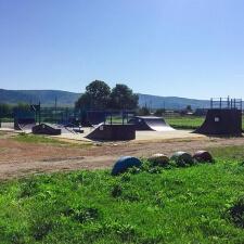 Деревянный скейт парк на Сахалине