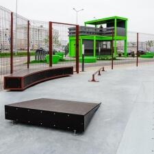 Скейтпарк в районе Новая Боровая