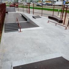 Фото: металлический скейт парк в Минске