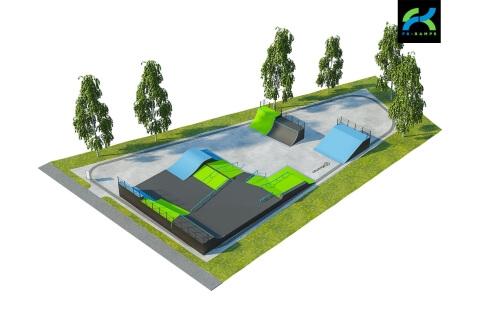 Альтернативный вариант скейт парка в Кронштадте