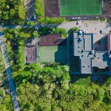 Скейт парк в Кронштадте: вид сверху