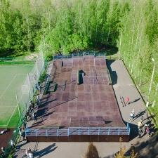 Скейт парк на территории Кронштадского лицея