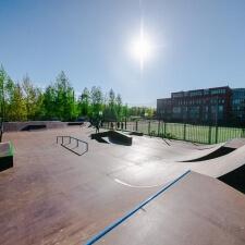 Деревянный скейт парк в Кронштадте