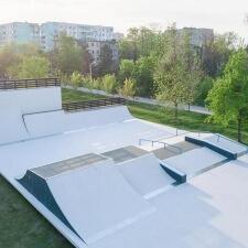 Открытый скейт парк в Ростове