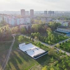 Скейт парк в Ростове-на-Дону: вид сверху